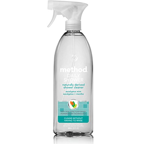 Shower Cleaner (Method Daily Shower Spray Cleaner, Eucalyptus Mint, 28 Ounce)