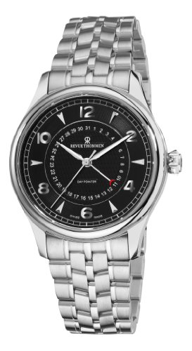 Revue Thommen Men's 10012-2137 XLarge Date Pointer Analog Display Swiss Automatic Silver Watch