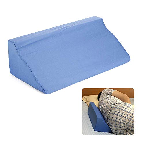 Post Operative Recovery - LQO Bed Wedge Pillow with Memory Foam top, Removable Cover Memory Foam - Sleep, Acid Reflux, Post-Operative, Reading, Leg Lift, snoring and Sleep Disorder - Wedge Wedge Body Position Wedge