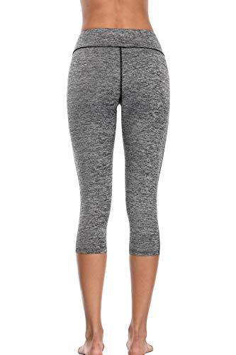 8d9fe52eb2b72 Sociala Women's High Waisted Yoga Pants Capris Leggings Workout Running  Tights