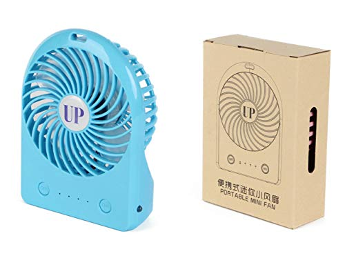 USB Rechargeable Mini Fan, Handheld Battery Operated, Ultra-Quiet Design Portable Speed-Adjustable for Outdoor