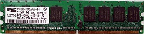 (ProMos 512MB PC2-4200U DDR2 533MHz 240-Pin CL5 Memory V916764K24QAFW-E4 )