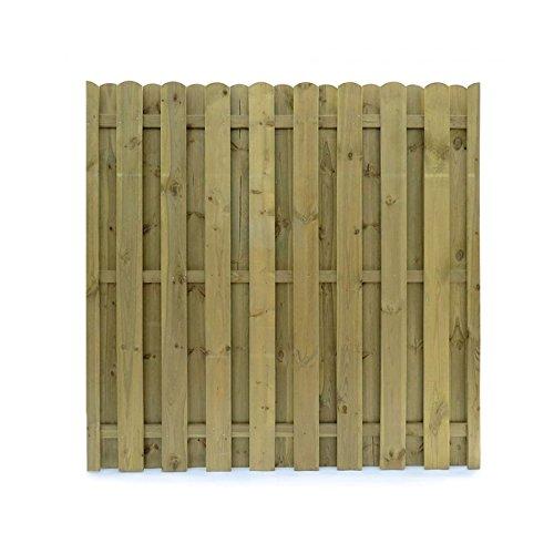 Sichtschutzzaun Holz 180x180 Dichtzaun Sichtschutz-Element 3-teilig Holz KDI