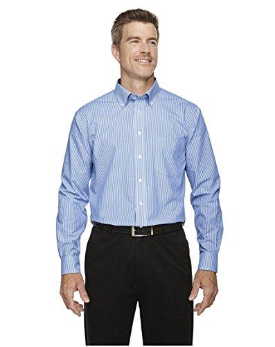 Devon & Jones Men's Crown Collection Banker Stripe Shirt, FRENCH BLUE, X-Large Devon And Jones Cotton Dress Shirt