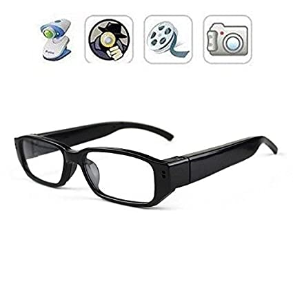 c39aea9f8595 Buy Krazzy Collection BieBer 720P HD Mini Spy Glasses Hidden Camera Eyewear  DVR Camcorder With Charger (Black) Online at Low Price in India