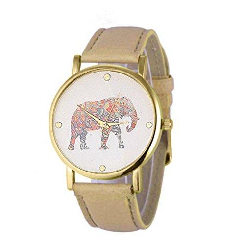 Boyiya Women's Watch, New Women Elephant Printing Pattern Weaved Leather Quartz Dial Watch - Macy's Sale Watches