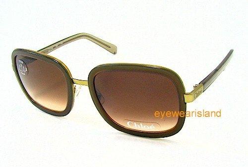 Amazon.com: CHLOE CL 2148 CL2148 Green C02 Sunglasses: Clothing