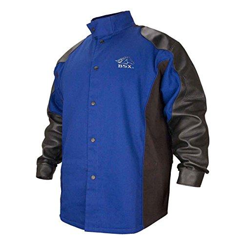 Revco BSX BXRB9C/PS Cotton/Pigskin Welding Jacket Blue/Black 2X-Large