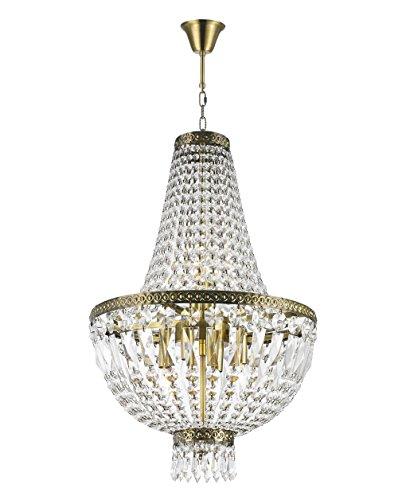 Worldwide Lighting W83088B16 Metropolitan Collection 6 Light Clear Crystal Chandelier Mini, 16