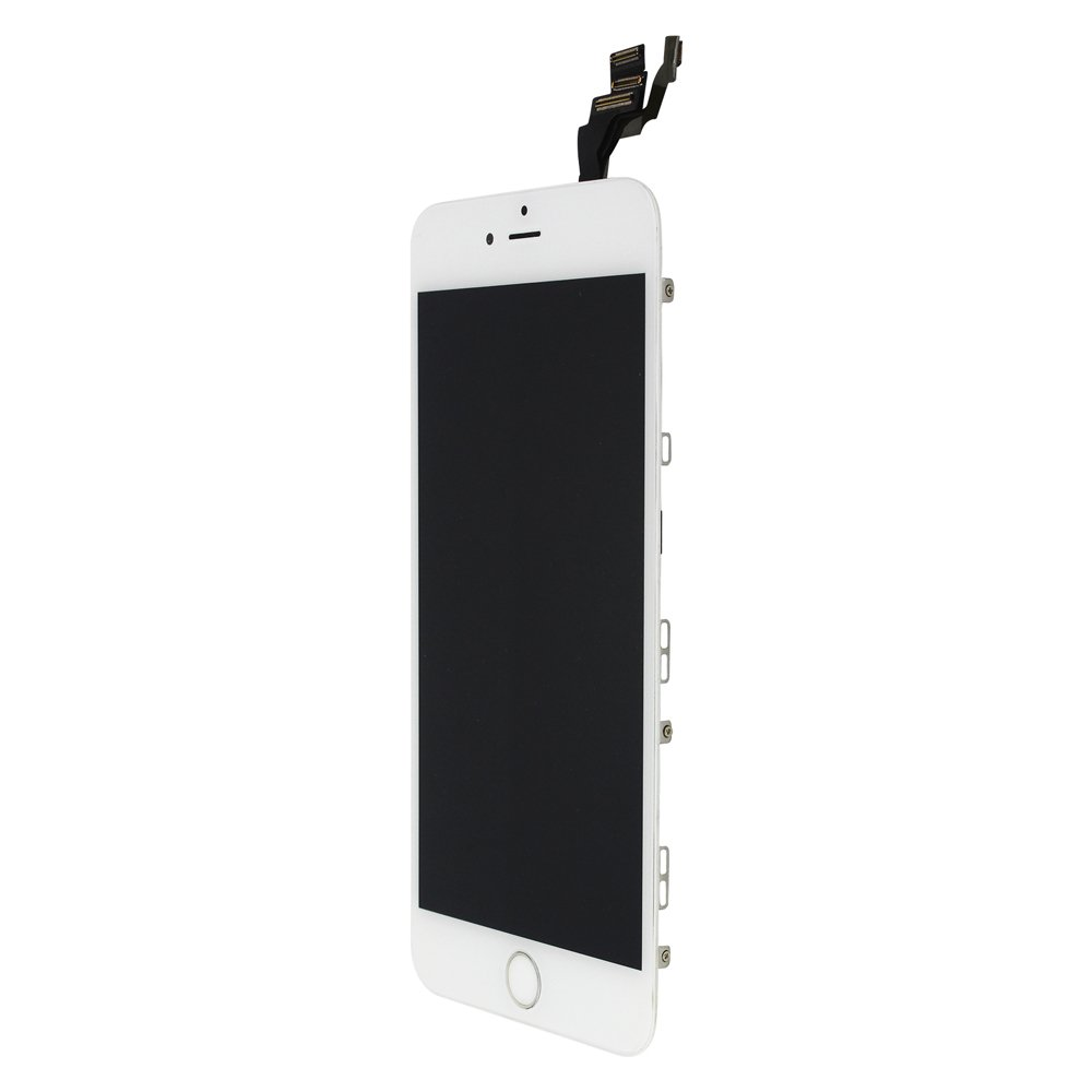 4.7 inch White LCD Touch Digitizer Full Display Assembly with Home Button Front Facing Camera Proximity Sensor Ear Speaker Full Repair Tools LL Trader Screen Replacement for iPhone 6