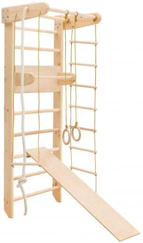 MebliLine Zona de juegos de madera para interior Irel-3 Escalera sueca Complejo deportivo de gimnasia (Altura: 210 cm): Amazon.es: Deportes y aire libre