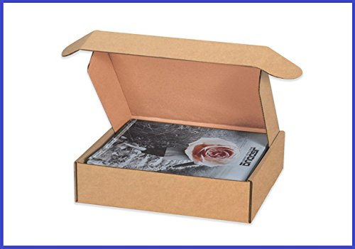BoxYeah 50 Pack - Tab Lock Deluxe Kraft Literature Mailer Shipping Boxes - 25 Sizes To Choose - Example (12 x 8 x 2 3/4)