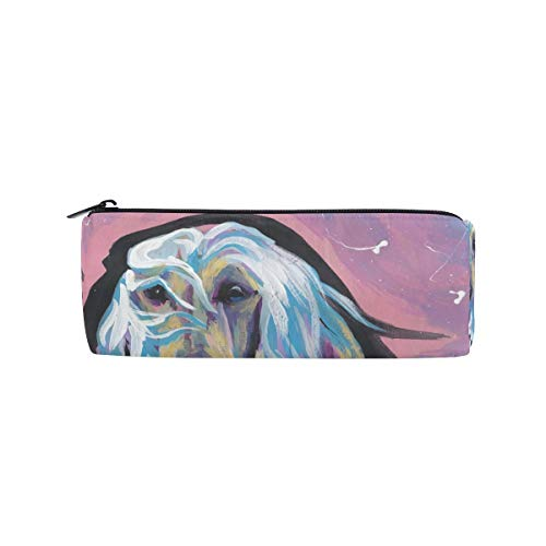 (Pencil Case Afghan Hound Pen Bag- ChunBB Stationery Pouch Makeup Cosmetic Holder for School Office)