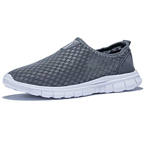 KENSBUY Mens Breathable and Durable Sports Running Shoes Lightweight Mesh Walking Sneakers EU41 Grey by KENSBUY (Image #1)