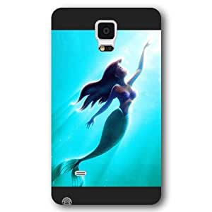 UniqueBox Customized Disney Series Case for Samsung Galaxy Note 4, The Little Mermaid Samsung Galaxy Note 4 Case, Only Fit for Samsung Galaxy Note 4 (Black Frosted Shell)
