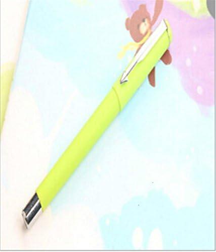 HuaQingPiJu-JP 4Pcs / Set Commerce Gel Pen Kit実用的なサインペン学生ステーショナリー報酬(緑色)