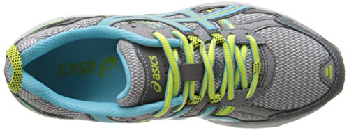 ASICS Women's Gel-Venture 5 Running Shoe, Silver Grey/Turquoise/Lime Punch, 6 M US by ASICS (Image #8)