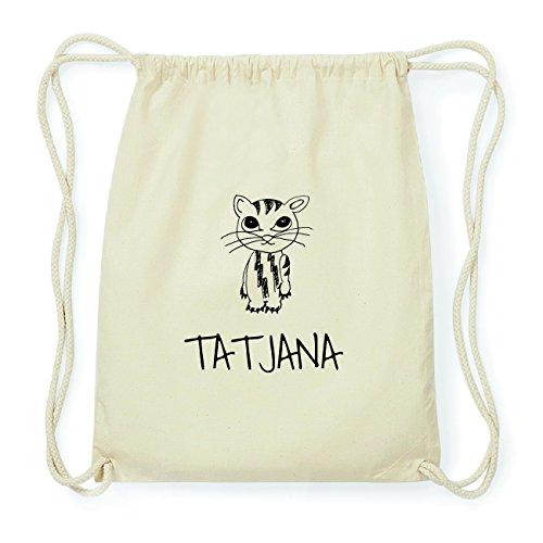 JOllipets TATJANA Hipster Turnbeutel Tasche Rucksack aus Baumwolle Design: Katze i7py3N1