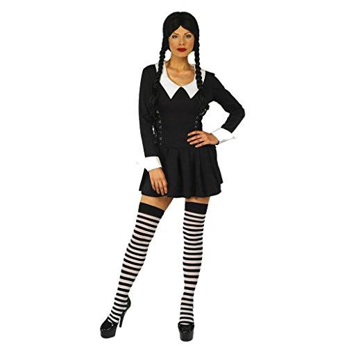 Wednesday Adams Womens Fancy Dress Costume (Wednesday Adams Costumes)