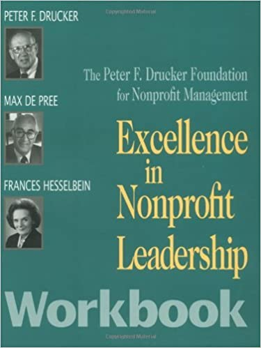 Book Excellence in Nonprofit Leadership; Workbook by Peter F. Drucker Foundation for Nonprofit Management (1998-06-19)