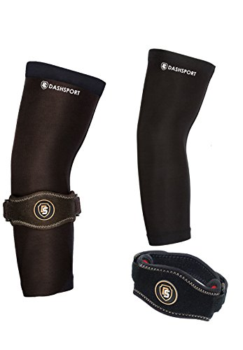 DashSport Copper Brace Elbow System Complete and Pain Relief Golfer and Tennis