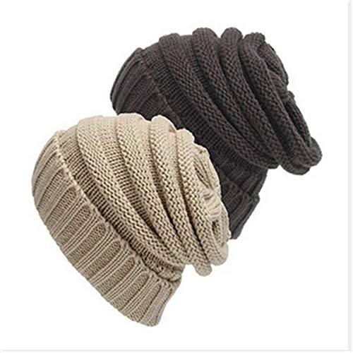NiceButy 2 paquetes de cable grueso y suave caliente de moda elá stico tejido beanie perezoso Accesorios beanie Ropa