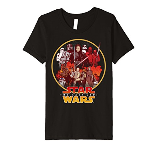 Kids Star Wars Last Jedi Rebel Cause Comic Premium T-Shirt 8 Black - Cause Rebel T-shirt