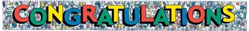 Metallic Congratulations Fringe Banner (multi-color lettering) Party Accessory  (1 count) (1/Pkg)]()