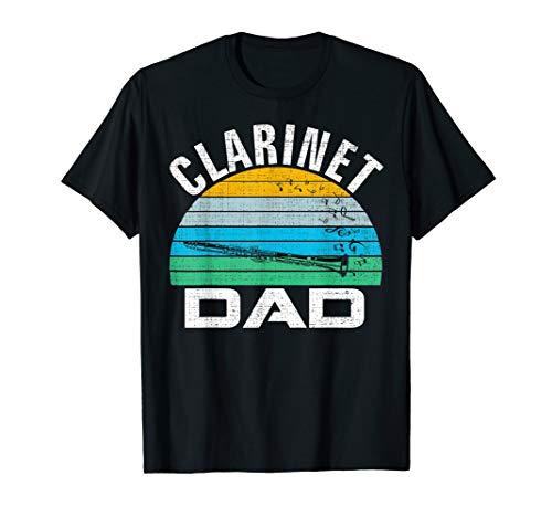 Retro Vintage Clarinet Dad Funny Music Father