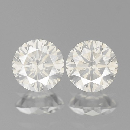 0.36ct 3.5mm FULL FIRE ROUND PAIR WHITE H COLOR NATURAL LOOSE DIAMONDS Free Shipping