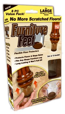 ONTEL PRODUCTS FFL-MC12/4 Furniture Feet, Large