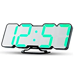 Uni Home LED Digital Alarm Clock, Electric Large Display Clock Display Time, Date, Temperature,USB Charging Port and 3 Adjustable Brightness Levels.(Desk/Wall mountable)
