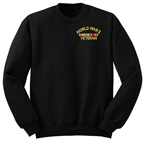 (World War 2 Veteran Military Crew Neck Sweatshirt X-Large)