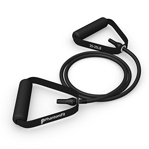 Phantom Fit Resistance Bands With Handles - Black 20-25 Lb.