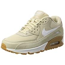 Nike Women's Wmns Air Max 90, Oatmeal / White - Gum Light Brown