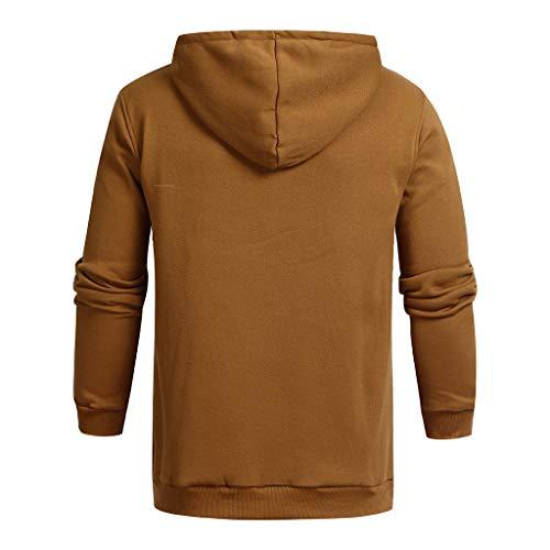 Longue shirt Capuche Fhuuly Européenne À Sweatshirt Hiver Pull Hauts La Décontracté Hommes Sweat Mode Outwear Manche 2019 Kaki Automne Nouvelle A6ATX