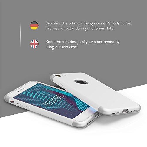 iPhone 7 Plus Coque, Urcover PC Backcase Étui Apple iPhone 7 Plus Backcase Protection Blanc Housse Robuste Case