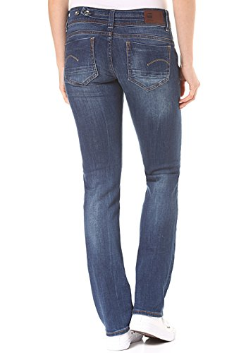 Denim Jeans Donna Midge Mid star Saddle G Blu Straight Cfvg8x