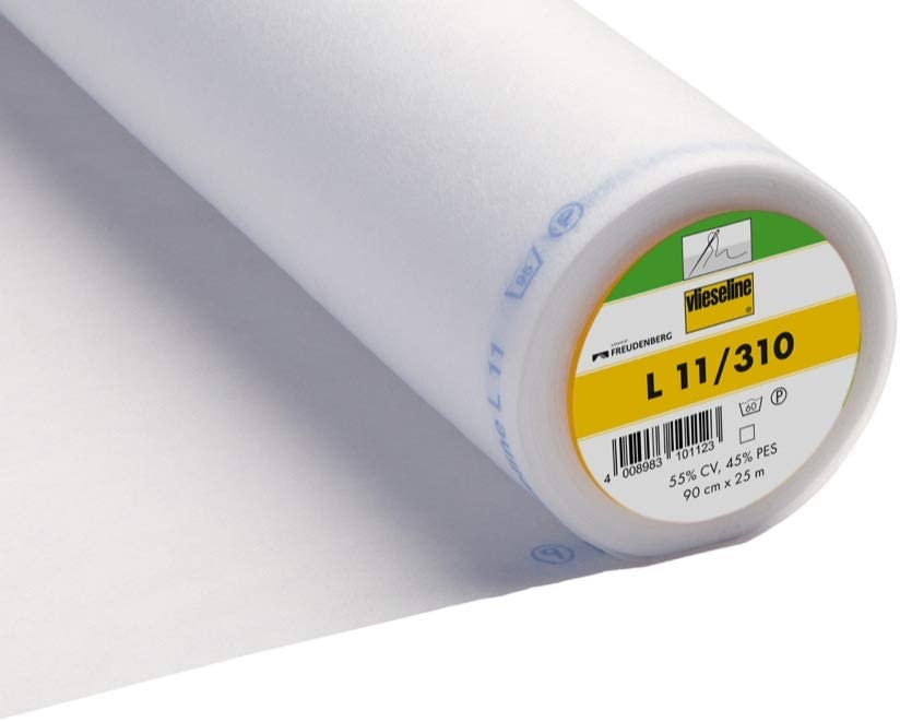 lourd blanc L/éger 90 cm de large 10 Metres Light L11 moyen Doublure /à coudre en entretoise Vilieseline // Vilene