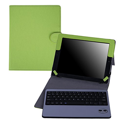 HDE iPad 2 Keyboard Case Wireless Bluetooth Leather Folio Cover Folding Stand for Apple iPad 2 3 4 (Green)