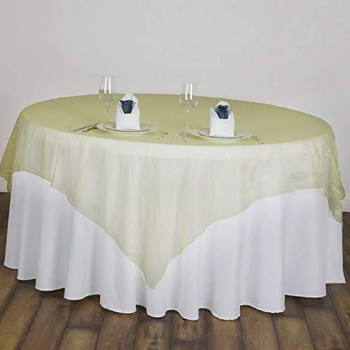 (Mikash 10 pcs 72x72 Sheer Organza Table Overlays Wedding Party Decorations Wholesale   Model WDDNGDCRTN - 17830  )