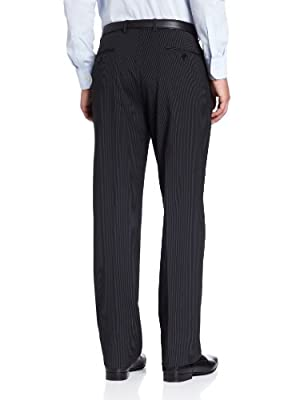 Calvin Klein Men's Black Stripe Slim-Fit Suit