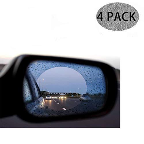 AMOUTOR Car Rearview Mirror Film, Anti-Fog Anti-Glare Anti-Scratch Waterproof Rainproof Protective Film Fits All Universal Vehicles, ()
