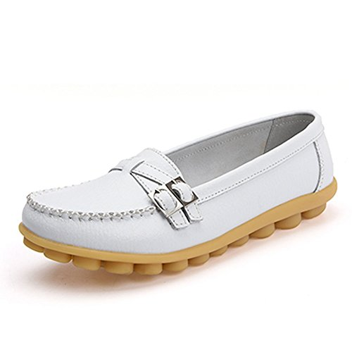 CIOR Genuine Leather Moccasin Slippers product image