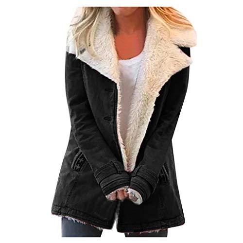 [해외]Dainzuy Outwear for Women Casual Lapels Faux Fuzzy Shearling Jacket Long Sleeve Winter Warm Button Coats Overcoat / Dainzuy Outwear for Women Casual Lapels Faux Fuzzy Shearling Jacket Long Sleeve Winter Warm Button Coats Overcoat