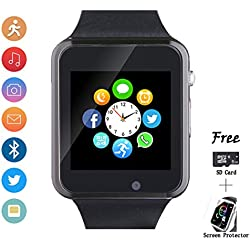 Smartwatch, Smart Watch with SIM Card Slot Text Call Reminder Camera Music Player Pedometer Compatible with Android Samsung and iPhone(Partial Functions) for Men Women Kids