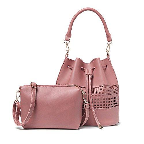 ZLL Women's bag Bolso De Las Mujeres Bolso Del Recorte De La Manera Bolso De Hombro Del Temperamento Solo Pink