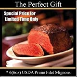USDA Prime - Filet Mignons - Choose your Quanitity and Size Fresh to your Door - Chicago Steak Company