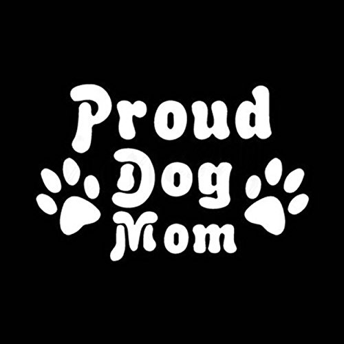 Mom Van - Proud Dog Mom Vinyl Decal Sticker | Cars Trucks Vans Walls Laptops Cups | White | 5.5 inches | KCD1336