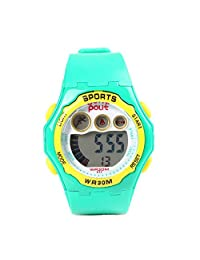 POLIT Kids Student LED Electronic Wrist Watch Gift Digital Sport Waterproof Watch - Green